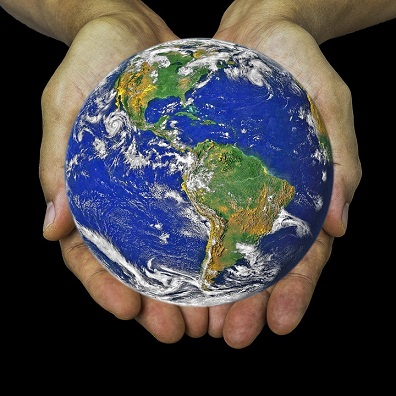 Image showing the Earth in the hands of a person