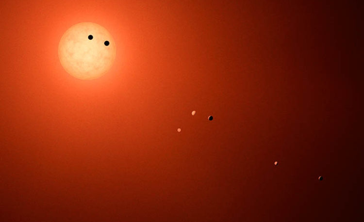 Image showing Exoplanets in the TRAPPIST- 1 System
